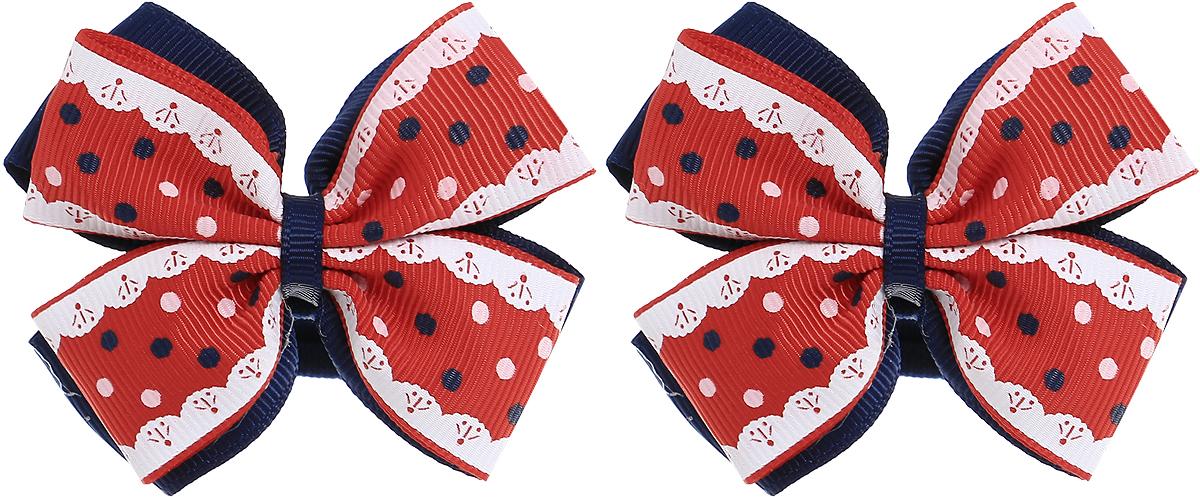 Babys Joy Резинка для волос Бантик в горошек цвет темно-синий красный белый 2 шт MN 75/2MN 75/2_темно-синий, красный, белыйРезинка для волос Babys Joy выполнена в виде двойного банта из декоративных лент. Цвет бантика - темно-синий и красный, в темно-синий и белый горошек. Резинка позволит не только убрать непослушные волосы с лица, но и придать образу немного романтичности и очарования. В упаковке: 2 резинки. Рекомендовано для детей старше трех лет.