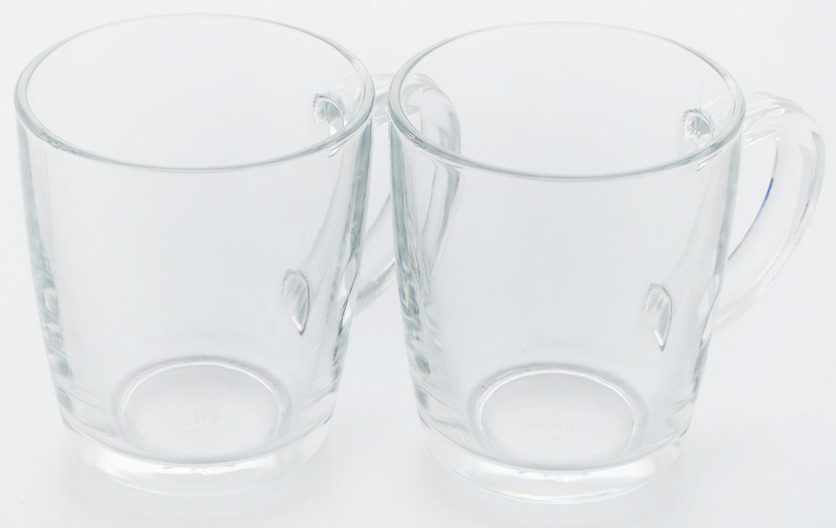 Набор кружек Pasabahce Бейзик, 340 мл, 2 шт55531/Набор кружек 2 штV=340мл h=100мм (прозрачное стекло)