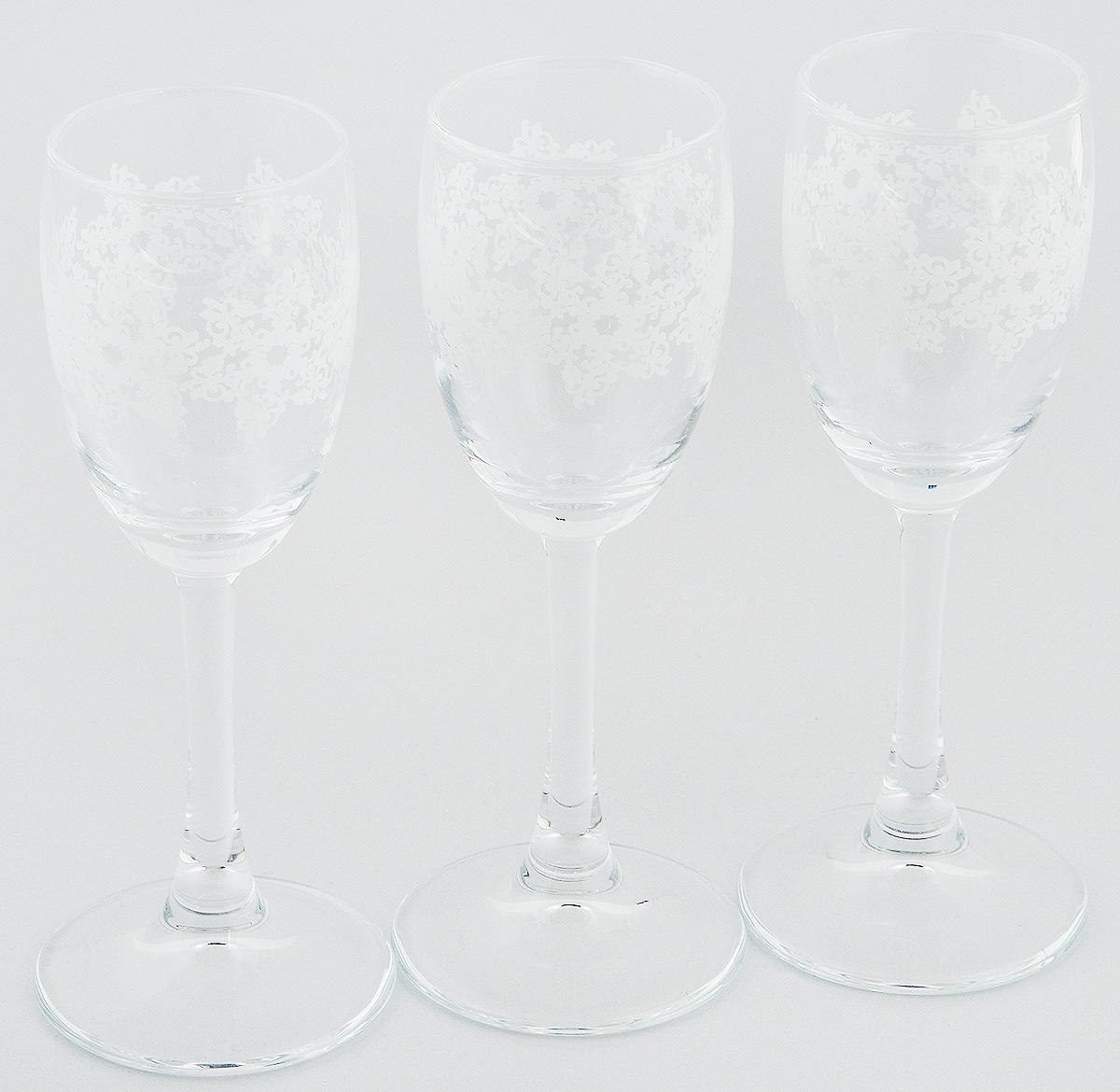 Набор рюмок Pasabahce Workshop Барокко, 60 мл, 3 шт440043B/BBНабор Pasabahce Workshop Барокко состоит из 3 рюмок, изготовленных из прочного натрий-кальций-силикатного стекла. Изделия, предназначенные для подачи ликера и других спиртных напитков, несомненно придутся вам по душе. Рюмки сочетают в себе элегантный дизайн и функциональность. Набор рюмок Pasabahce Workshop Барокко идеально подойдет для сервировки стола и станет отличным подарком к любому празднику. Диаметр рюмки по верхнему краю: 4 см. Высота рюмки: 14 см.