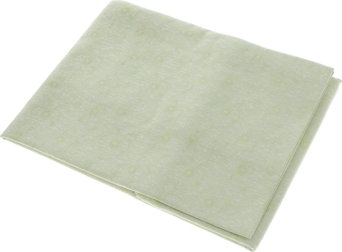 Скатерть Гаврилов-Ямский Лен, прямоугольная, цвет: светло-зеленый, 150 x 180 см. 1со32081со-3208_светло-зеленыйСкатерть Гаврилов-Ямский Лен выполнена из 51% льна и 49% хлопка и декорирована жаккардовым рисунком. Данное изделие является незаменимым аксессуаром для сервировки стола. Лен - поистине уникальный, экологически чистый материал. Изделия из льна обладают уникальными потребительскими свойствами. Хлопок представляет собой натуральное волокно, которое получают из созревших плодов такого растения как хлопчатник. Качество хлопка зависит от длины волокна - чем длиннее волокно, тем ткань лучше и качественней. Такая скатерть очень практична и неприхотлива в уходе. Она создаст тепло и уют в вашем доме.