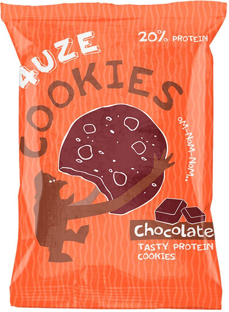 Печенье белковое 4UZE Fuze Cookies, шоколад, 640 г, 16 упаковок3882543Полезное печенье с яркими вкусами предназначено для поддержки организма спортсмена в повседневной жизни, когда нет возможности строго придерживаться специальных диет. В обычном виде печенье буквально тает во рту, а если положить его на 15 секунд в микроволновку, то получится отличный теплый маффин, который станет прекрасным полезным десертом. Состав: концентрат сывороточного белка, пшеничный белок, клетчатка, смесь насыщенных и ненасыщенных жиров, фруктоза, разрыхлитель, арахис дробленый, арахисовая мука, ароматизатор «Печенье», сорбат калия (консервант), бензоат натрия (консервант), сукралоза (подсластитель).