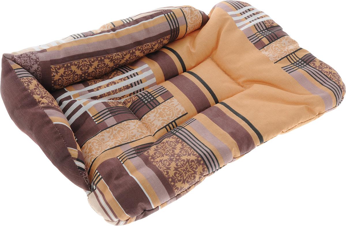 Лежак для животных Elite Valley Софа, цвет: коричневый, бежевый, 46 х 31 х 11 см. Л-5/1Л-5/1_коричневый, бежевыйЛежак для животных Elite Valley Софа изготовлен из высококачественной бязи, наполнитель - холлофайбер. Он станет излюбленным местом вашего питомца, подарит ему спокойный и комфортный сон, а также убережет вашу мебель от многочисленной шерсти. На таком лежаке вашему любимцу будет мягко и тепло.