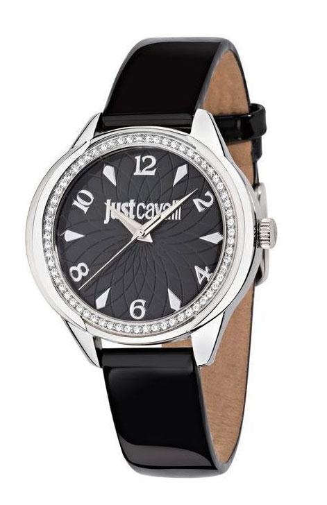 Часы наручные Just Cavalli R7251571505, стразы из стекла, Женские, цвет Черный, размер 38x35ммR7251571505Часы наручные Just Cavalli R7251571505, стразы из стекла 30м (3 АТМ)
