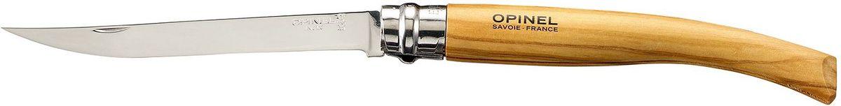 Нож филейный Opinel Slim №12, длина клинка 12 см, цвет: светло-коричневый. 001145001145Нож Opinel №12, филейный, нержавеющая сталь, рукоять - олива. Идеальный карманный нож для пикника, барбекю, походов, охоты и рыбалки. Характеристики ножа: Материал лезвия: сталь Sandvik 12C27 Полировка лезвия: зеркальная Материал рукояти: оливковое дерево Тип ножевого замка: Viroblock Приспособление для открытия клинка: насечка на лезвии Длина лезвия, см: 12 Длина ножа, см: 27,0 Ширина лезвия, см: 1,71 Длина в сложенном положении, см: 15,0 Вес, гр: 50 Вес ножа с упаковкой, гр: 56 Viroblock - оригинальное запорное устройство, представляющее собой кольцо с прорезью, которое, будучи повернуто относительно оси ножа, упирается в пятку клинка и не доет ножу самопроизвольно складываться при работе или раскладываться в кармане. Конструкция эта защищена патентом и устанавливается на ножи Opinel с 1955 года, начиная с модели n° 6.