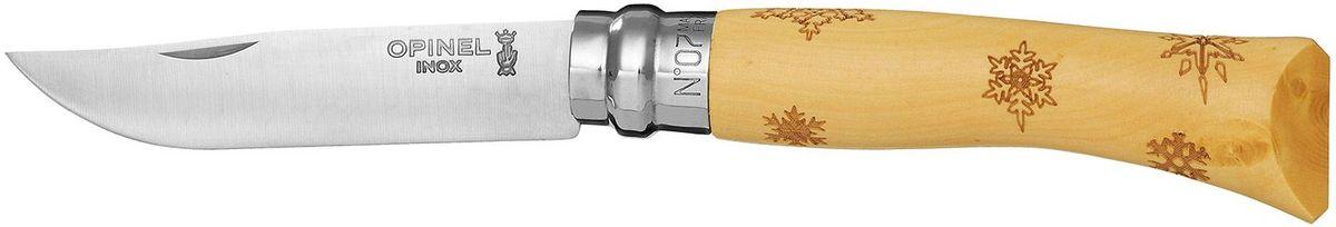 Нож Opinel Tradition. Nature №07, длина клинка 8 см, цвет: светло-бежевый. 001553001553Нож Opinel Nature №7, нержавеющая сталь, рукоять - самшит, рисунок - снежинки. Идеальный карманный нож для пикника, барбекю, походов, охоты и рыбалки. Характеристики ножа: Материал лезвия: сталь Sandvik 12C27 Материал рукояти: самшит, нанесен рисунок - снежинки Тип ножевого замка: Viroblock Приспособление для открытия клинка: насечка на лезвии Длина лезвия, см: 8 Длина ножа, см: 17,8 Ширина лезвия, см: 1,6 Длина в сложенном положении, см: 10 Вес, гр: 42 Вес ножа с упаковкой, гр: 47 Viroblock - оригинальное запорное устройство, представляющее собой кольцо с прорезью, которое, будучи повернуто относительно оси ножа, упирается в пятку клинка и не доет ножу самопроизвольно складываться при работе или раскладываться в кармане. Конструкция эта защищена патентом и устанавливается на ножи Opinel с 1955 года, начиная с модели n° 6.