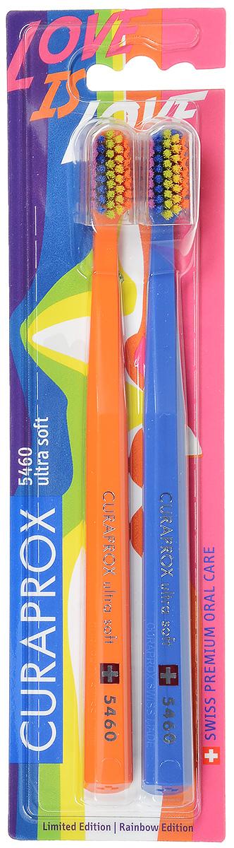 CS 5460 Duo Rainbow Edition Набор зубных щеток ultrasoft, d 0,10 мм (2 шт.)CS5460/2 Duo RainBowЩетки предназначены для ежедневного очищения зубов. Каждая щетка содержит 5460 мягких активных щетинок (диаметр 0,10мм) и обеспечивает качественное и нетравматичное удаление зубного налета.