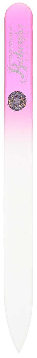 Bohemia Пилка для ногтей, стеклянная, цвет: розовый, 12 см. 233cz-1402233cz-1402вм_розовыйПилочка Bohemia  не травмирует ногтевую пластину и подходит для ногтей любого вида твердости и натуральности. Она изготовлена из знаменитого чешского стекла, в производстве которого используются природные компоненты, богатые минералами. Отличается необыкновенно красивым дизайном: сочетанием зеленого цвета, который переходит плавно в белый. Работа с ней доставляет приятные ощущения, особенно для ногтей с повышенной чувствительностью. Замшевый чехол поможет сохранить ее на долгий срок службы. Возможна санитарная обработка. Товар сертифицирован.