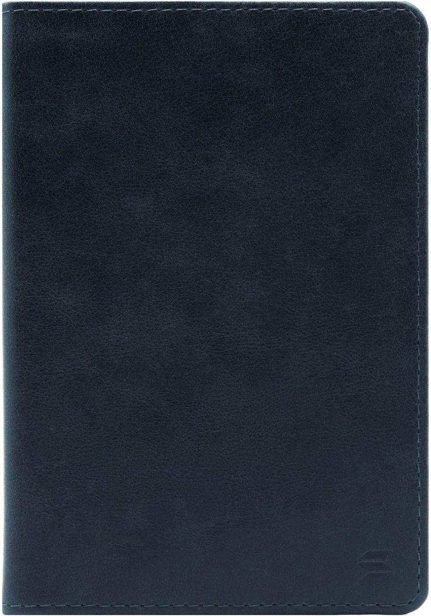 Обложка для паспорта Soltan, цвет: темно-синий. 010 11 17010 11 17Обложка для паспорта Soltan выполнена из натуральной кожи с эффектом старения и дополнена тиснением в виде логотипа бренда. Внутри у модели удобные широкие поля.