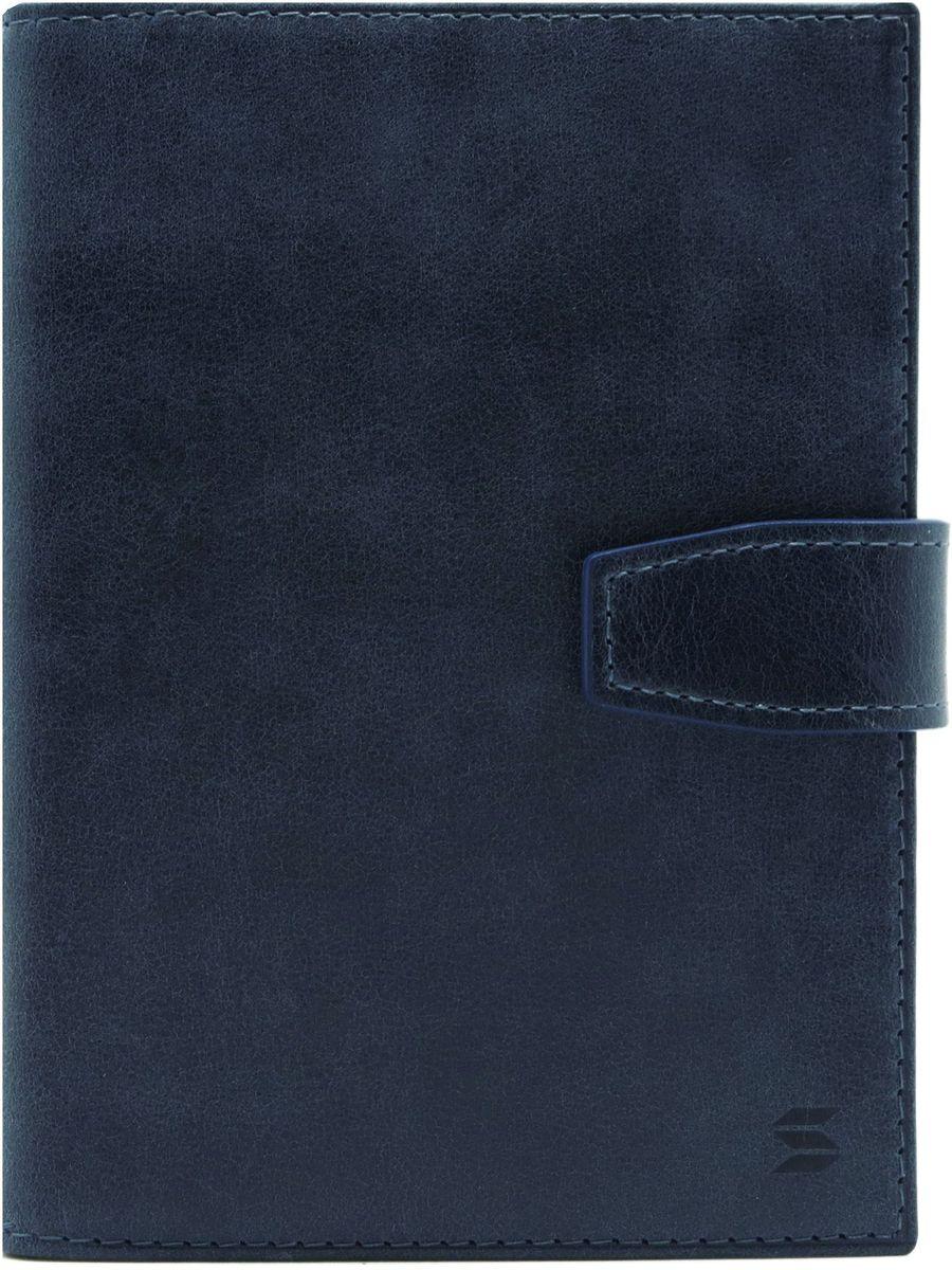 Обложка для документов Soltan, цвет: темно-синий. 075 11 17075 11 17Обложка для документов Soltan выполнена из натуральной кожи с эффектом старения. Модель закрывается на кнопку, внутри четыре кармашка для карточек, файлы для документов, отделение для паспорта.