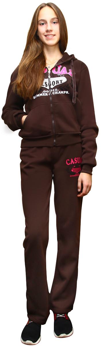 """Костюм спортивный женский """"Proffi Sport"""", цвет: коричневый. PH7760. Размер L (46) PH7760brownL"""