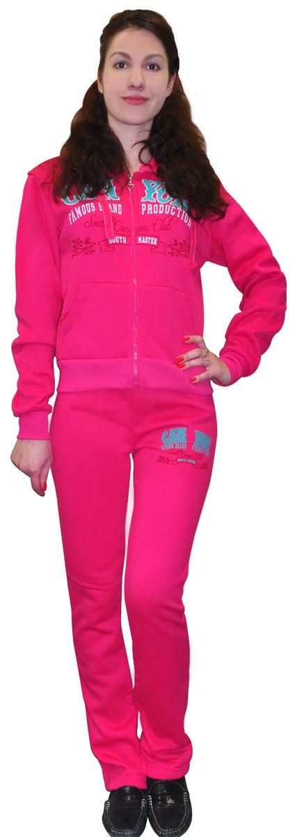 "Костюм спортивный женский ""Proffi Sport"", цвет: темно-розовый. PH7760. Размер M (44) PH7760darkpinkM"