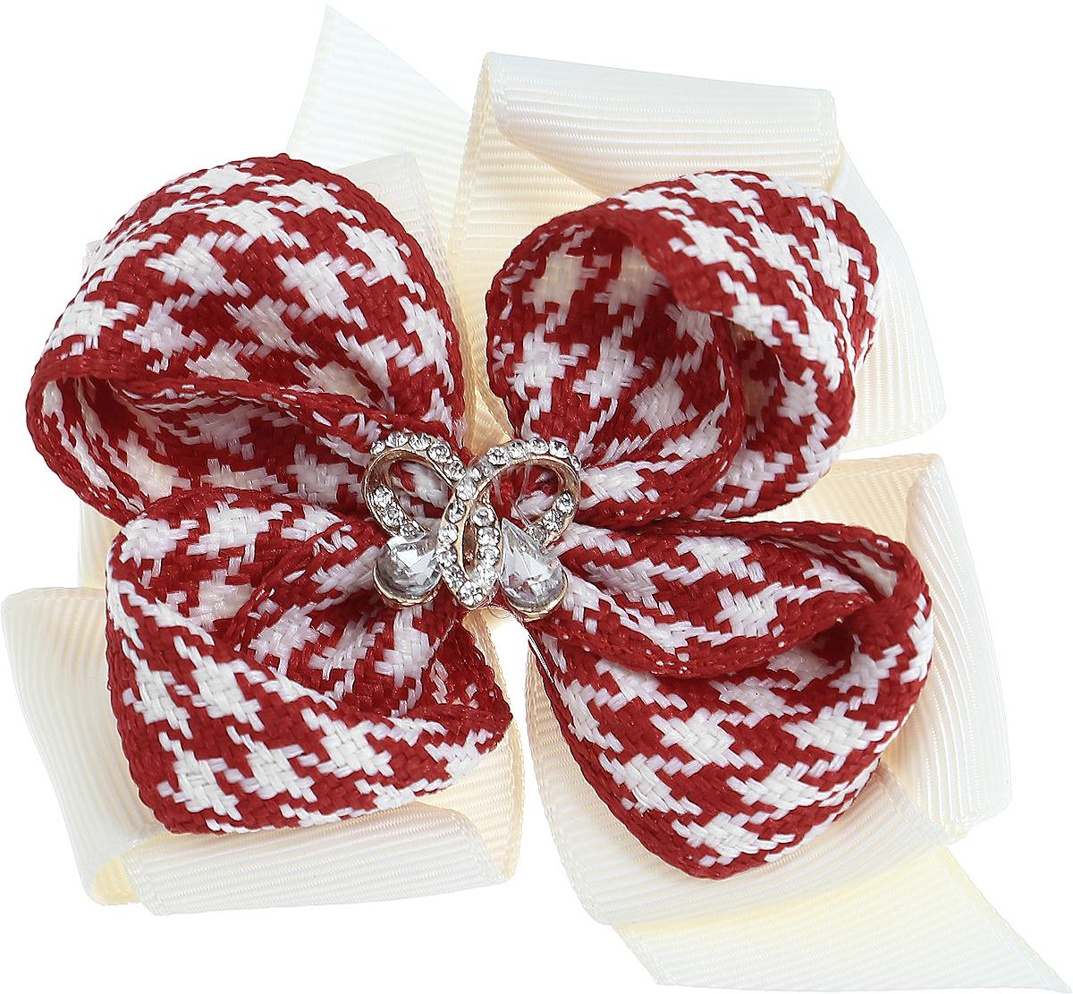 Baby's Joy Резинка для волос цвет молочный красный белый K 7 K 7_молочный, красный, белый