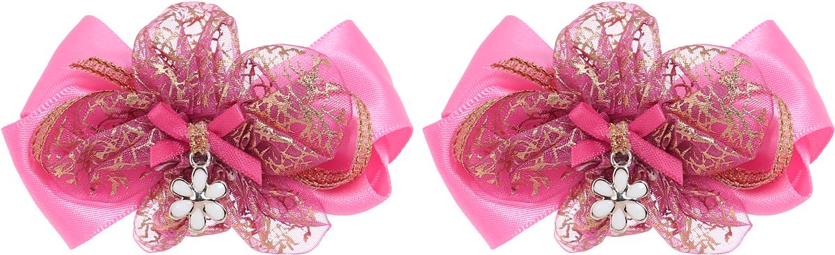 Babys Joy Резинка для волос Бантик Цветочек цвет розовый золотистый 2 шт MN 143/2MN 143/2_розовый, золотистый, цветочекРезинка для волос Babys Joy выполнена в виде двойного банта из атласной и декоративной ленты, центр которого закреплен элементом в виде металлического белого цветочка. Резинка позволит не только убрать непослушные волосы с лица, но и придать образу немного романтичности и очарования. В упаковке: 2 резинки. Рекомендовано для детей старше трех лет.