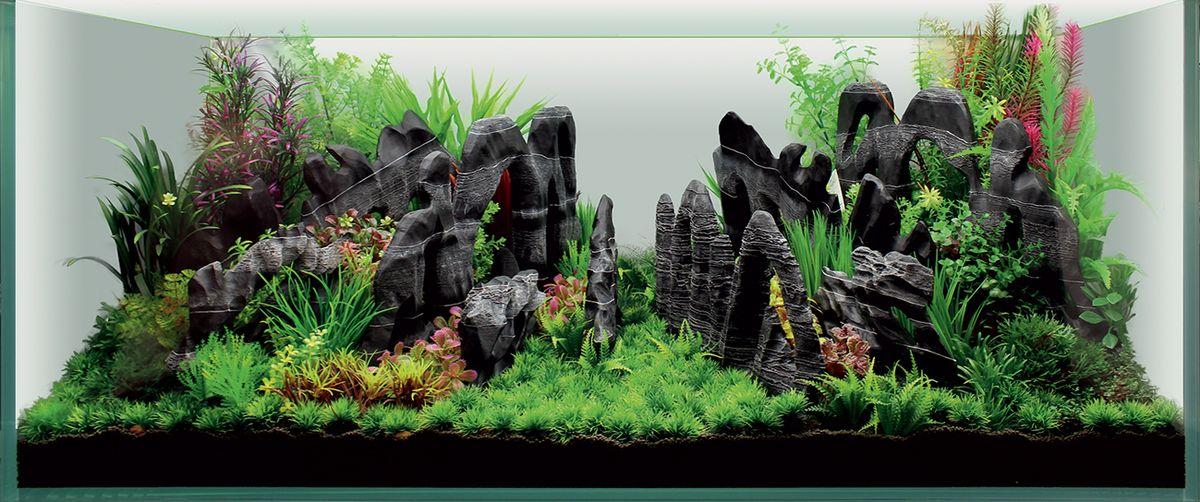 Набор декораций для аквариума ArtUniq Каньон, 120 x 50 x 50 смART-4116930Набор декорация для аквариума ArtUniq Каньон поможет вам создать из своего аквариума произведение искусства. Содержит около 14 видов различных растений. Практичный элемент впишется в любой подводный пейзаж, превращая обычный аквариум в притягивающий внимание предмет интерьера. Каждый, кто увидит его, удивится резвящимся в нем рыбкам, которым больше никогда не будет скучно. Все компоненты этого украшения сделаны из химически нейтрального материала. Он не меняет состав и основные параметры воды, постоянно оставаясь безопасным для обитателей аквариума. Благодаря декорациям ArtUniq вы сможете смоделировать потрясающий пейзаж на дне вашего аквариума или террариума. Общий размер декорации (в собранном виде): 120 х 50 х 50 см. Высота растений: 3-39 см.