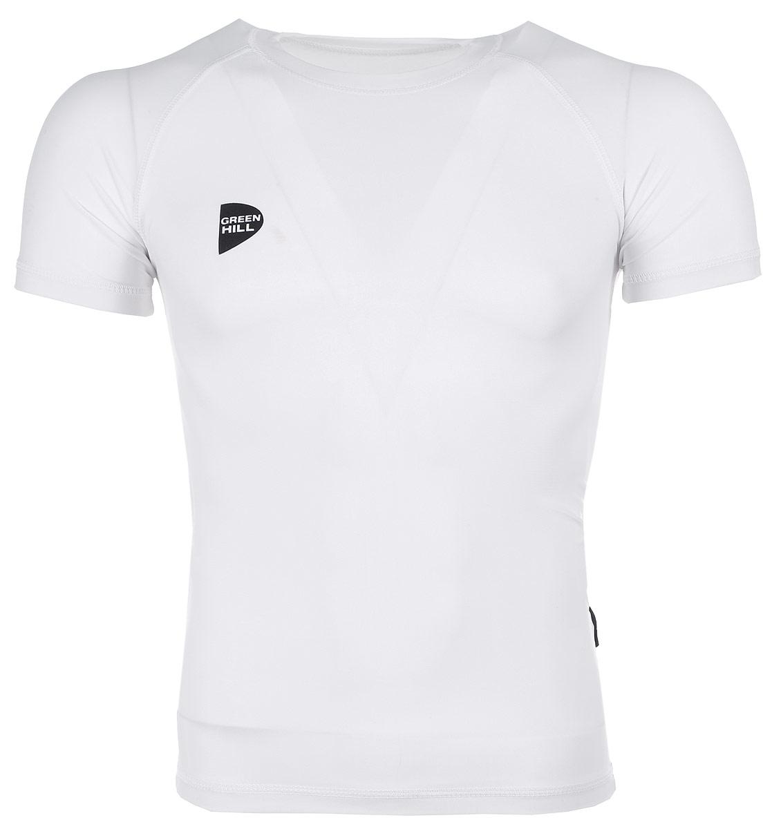 Защитная футболка Green Hill, цвет: белый. Размер XXL. RGS-3558RGS-3558Защитная футболка с логотипом дзюдо. Материал: полиэстер/лайкра. Размеры: Длина 74 см ширина 47 см