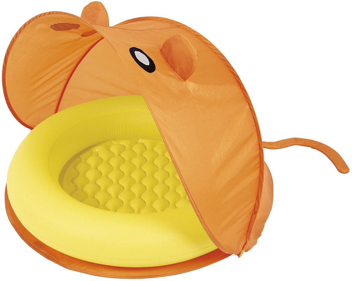 Bestway Надувной бассейн со складным тентом от солнца51110Бассейн надувной для детей от 2-х лет. Размер 97*97*74 см. Мягкое надувное дно. В комплекте тент от солнца (изготовлен из полиэстера), сумка для хранения. Объем 23 л. Изготовлено из полимерных материалов (винил).