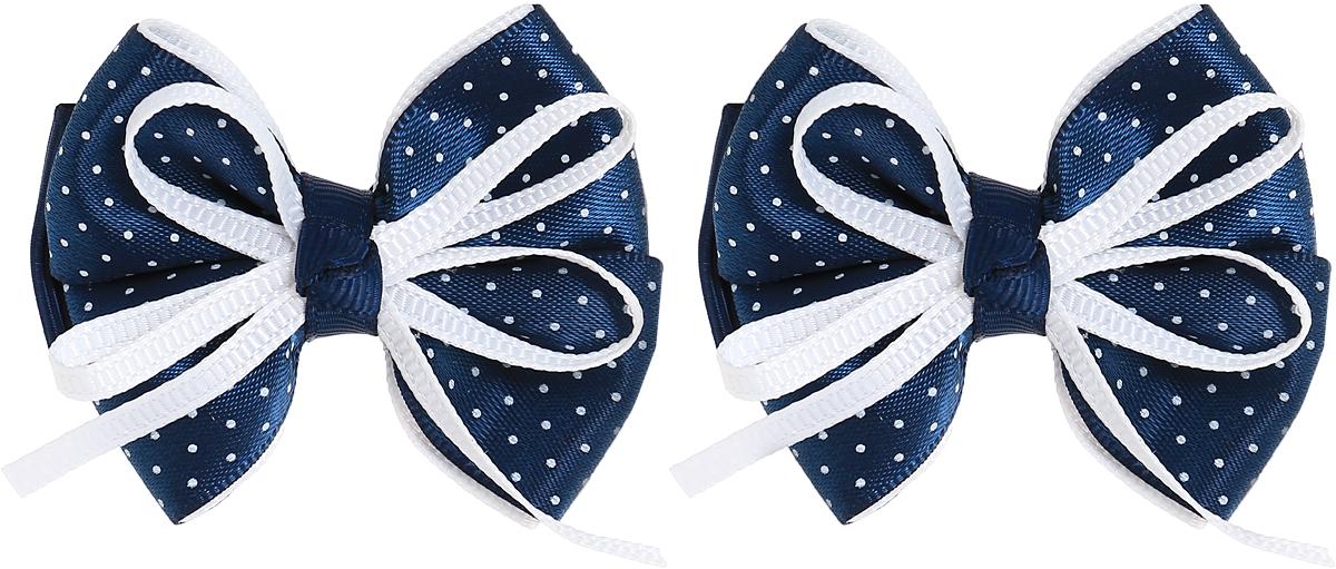 Babys Joy Резинки для волос цвет темно-синий белый в горошек MN 200/2MN 200/2_темно-синий, белый, в горошекРезинка для волос Babys Joy выполнена в виде банта из декоративной ленты темно-синего цвета в белый горошек. Резинка позволит не только убрать непослушные волосы с лица, но и придать образу немного романтичности и очарования. В упаковке: 2 резинки. Рекомендовано для детей старше трех лет.