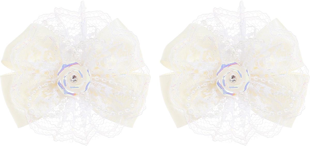 Babys Joy Резинка для волос цвет молочный розочка 2 шт MN 163/2MN 163/2_молочный, розочкаРезинка для волос Babys Joy выполнена в виде банта из атласной ленты молочного цвета и декоративной ленты в виде цветка, центр которого закреплен элементом в виде перламутровой розочки. Резинка позволит не только убрать непослушные волосы с лица, но и придать образу немного романтичности и очарования. В упаковке: 2 резинки. Рекомендовано для детей старше трех лет.