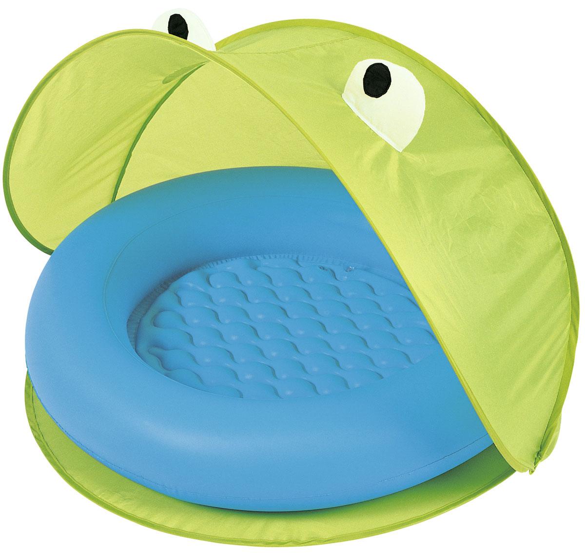 Bestway Надувной бассейн со складным тентом от солнца. 51110_G51110_GБассейн надувной для детей от 2-х лет. Размер 97*97*74 см. Мягкое надувное дно. В комплекте тент от солнца (изготовлен из полиэстера), сумка для хранения. Объем 23 л. Изготовлено из полимерных материалов (винил).