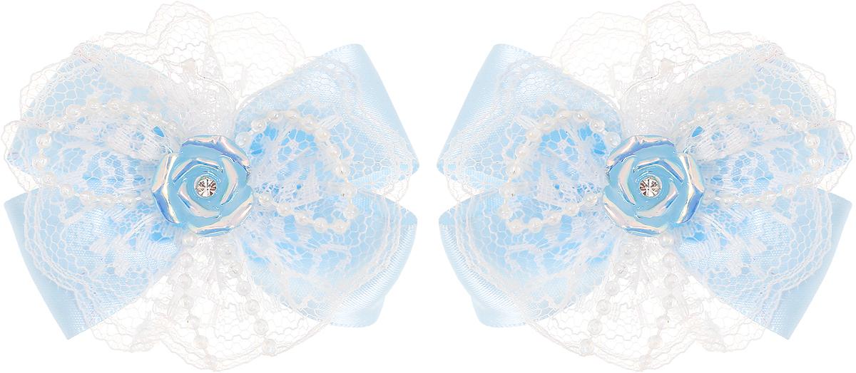 Babys Joy Резинка для волос Бантик Розочка цвет голубой 2 шт MN 163/2MN 163/2_голубой, розочкаРезинка для волос Babys Joy выполнена в виде банта из атласной голубой ленты, центр которого закреплен элементом в виде перламутровой розочки. Резинка позволит не только убрать непослушные волосы с лица, но и придать образу немного романтичности и очарования. В упаковке: 2 резинки. Рекомендовано для детей старше трех лет.