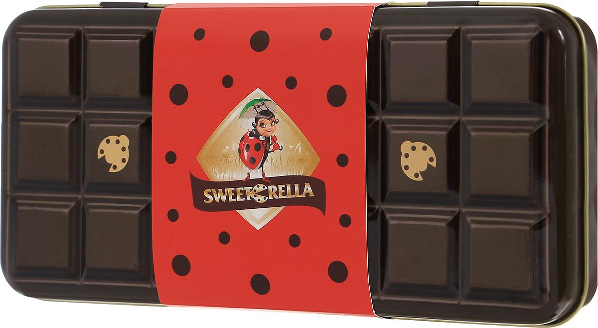 Sweeterella молочный шоколад с хрустящими шариками шоколадный пенал, 110 гибе001С таким подарком вы не прогадаете – плитка нежнейшего молочного шоколада с хрустящими шариками, красиво упакованная в шоколадный пенал, не оставит равнодушным никого! Над рецептурой шоколада трудились лучшие шоколатье, которые знают толк в своем деле. Уважаемые клиенты! Обращаем ваше внимание, что полный перечень состава продукта представлен на дополнительном изображении.