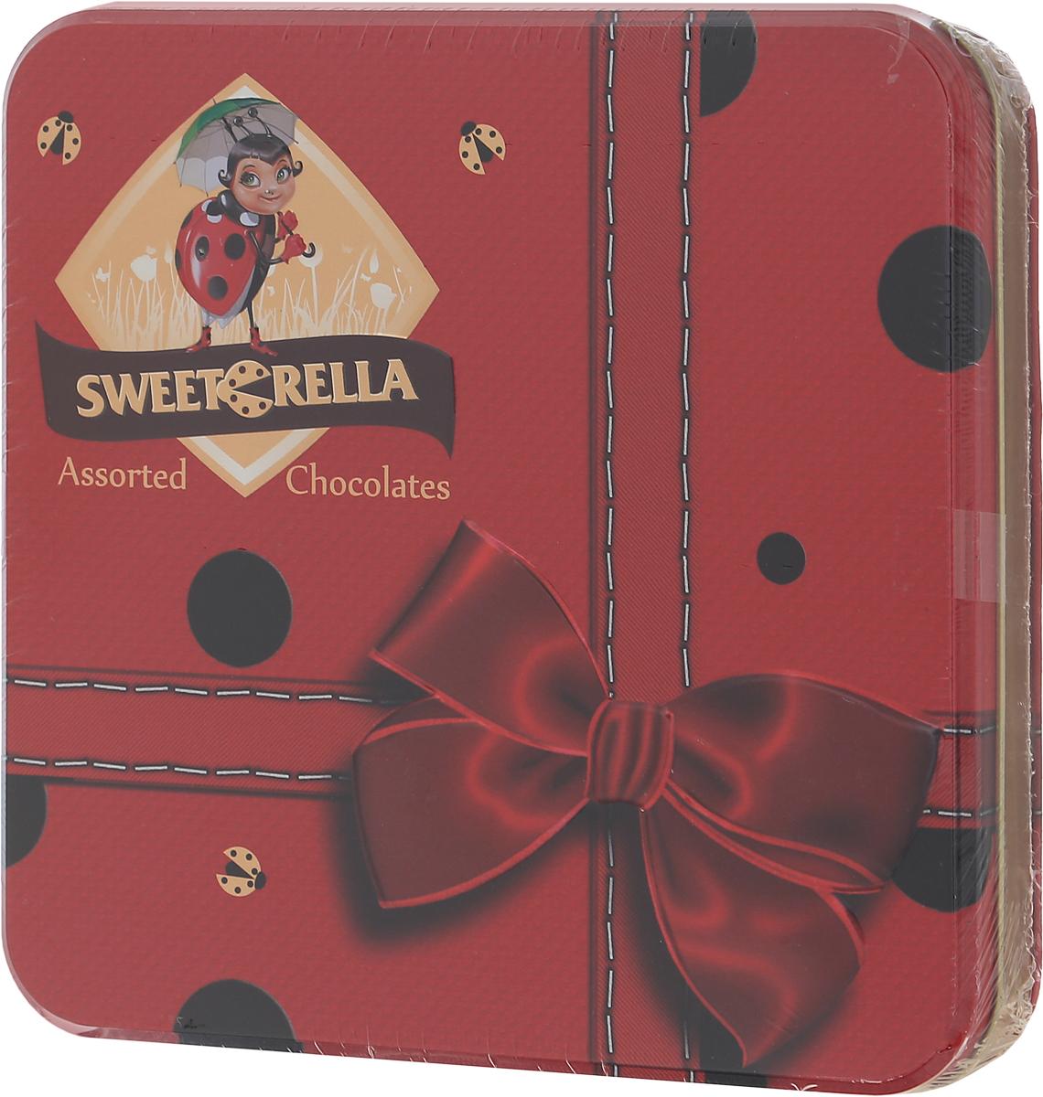 Sweeterella набор шоколадных конфет эксклюзив шоколадного ассорти, 193 гиба015Подарочный набор шоколадных конфет разных форм и вкусов в красивой коробке с бантом – лучшее лекарства от плохого настроения! Выбирайте любимую начинку и наслаждайтесь! Начинки: - фисташковая; - ореховая; - с яичным ликером; - Изабелла. Уважаемые клиенты! Обращаем ваше внимание, что полный перечень состава продукта представлен на дополнительном изображении.