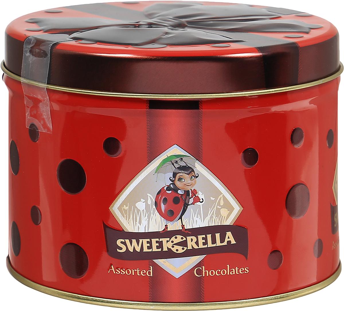 Sweeterella набор шоколадных конфет лепесток желаний, 160 гиба007Весенний набор шоколадных конфет в подарочной жестяной баночке с ярким бордовым бантом. В баночке спрятались конфеты в форме цветов и листиков с нежными перламутровыми оттенками и интересными начинками. Начинки: - виноградная; - апельсиновая; - фисташковая. Уважаемые клиенты! Обращаем ваше внимание, что полный перечень состава продукта представлен на дополнительном изображении.