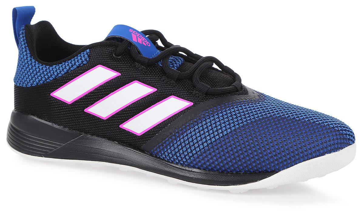 Кроссовки для футзала мужские adidas Ace Tango 17.2 Tr, цвет: черный. BB4433. Размер 11,5 (45)BB4433ЛИДЕРСТВО. ТОТАЛЬНЫЙ КОНТРОЛЬ. Опережение соперников. Удар с подкруткой точно в ворота. Рабона из самого угла поля. Неважно, какой прием выберет твой соперник. Ты заметишь это раньше и помешаешь ему. Твой выбор — ACE Tango.