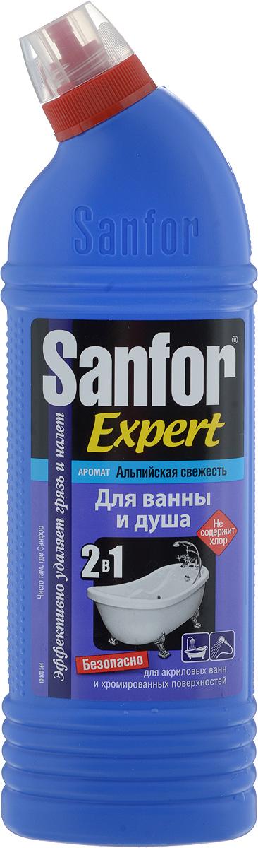Средство для чистки и дезинфекции ванны и душа Sanfor Expert, альпийская свежесть, 750 мл4602984003815Специальная формула позволяет использовать Sanfor Expert абсолютно для любых видов ванн, хромированных кранов и душа, не повреждает поверхности даже при ежедневном использовании. Обладает хорошими чистящими свойствами, эффективно удаляет известковый налет, препятствует его появлению, легко справляется с мыльными потеками, удаляет ржавчину. В отличие от обычных средств, Sanfor Expert содержит специальные компоненты, препятствующие осаждению загрязнений после смывания. Поэтому, даже после одного применения, оставляет блеск в течение 7 дней. Благодаря загущенной формуле равномерно распределяется и не стекает с наклонных поверхностей. Обеспечивает свежий запах. Не содержит хлор, при этом специальная формула гарантирует хорошие чистящие и антимикробные свойства. Товар сертифицирован. Уважаемые клиенты! Обращаем ваше внимание на возможные изменения в дизайне упаковки. Качественные характеристики товара остаются...