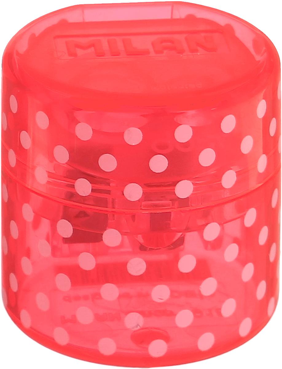 Milan Точилка Duet с контейнером цвет розовый20155212_розовыйУдобная точилка с контейнером Milan Duet оснащена безопасной системой заточки. Эта система предотвращает отделение лезвия от точилки. Идеально подходит для использования в школах. Стальное лезвие острое и устойчиво к повреждению. Идеально подходит для заточки графитовых и цветных карандашей