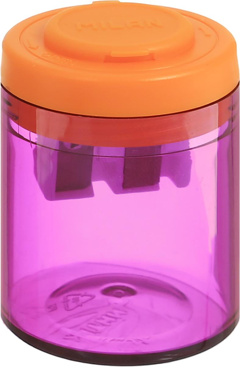 Milan Точилка Collection с контейнером цвет фиолетовый оранжевый20161912_фиолетовый/оранжевыйДизайнерская точилка Milan Collection оснащена безопасной системой заточки. Эта система предотвращает отделение лезвия от точилки. Идеально подходит для использования в школах. Стальное лезвие острое и устойчиво к повреждению. Идеально подходит для заточки графитовых и цветных карандашей