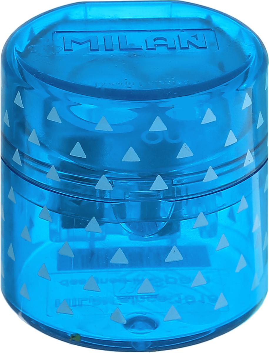Milan Точилка Duet с контейнером цвет синий20155212_синийУдобная точилка с контейнером Milan Duet оснащена безопасной системой заточки. Эта система предотвращает отделение лезвия от точилки. Идеально подходит для использования в школах. Стальное лезвие острое и устойчиво к повреждению. Идеально подходит для заточки графитовых и цветных карандашей