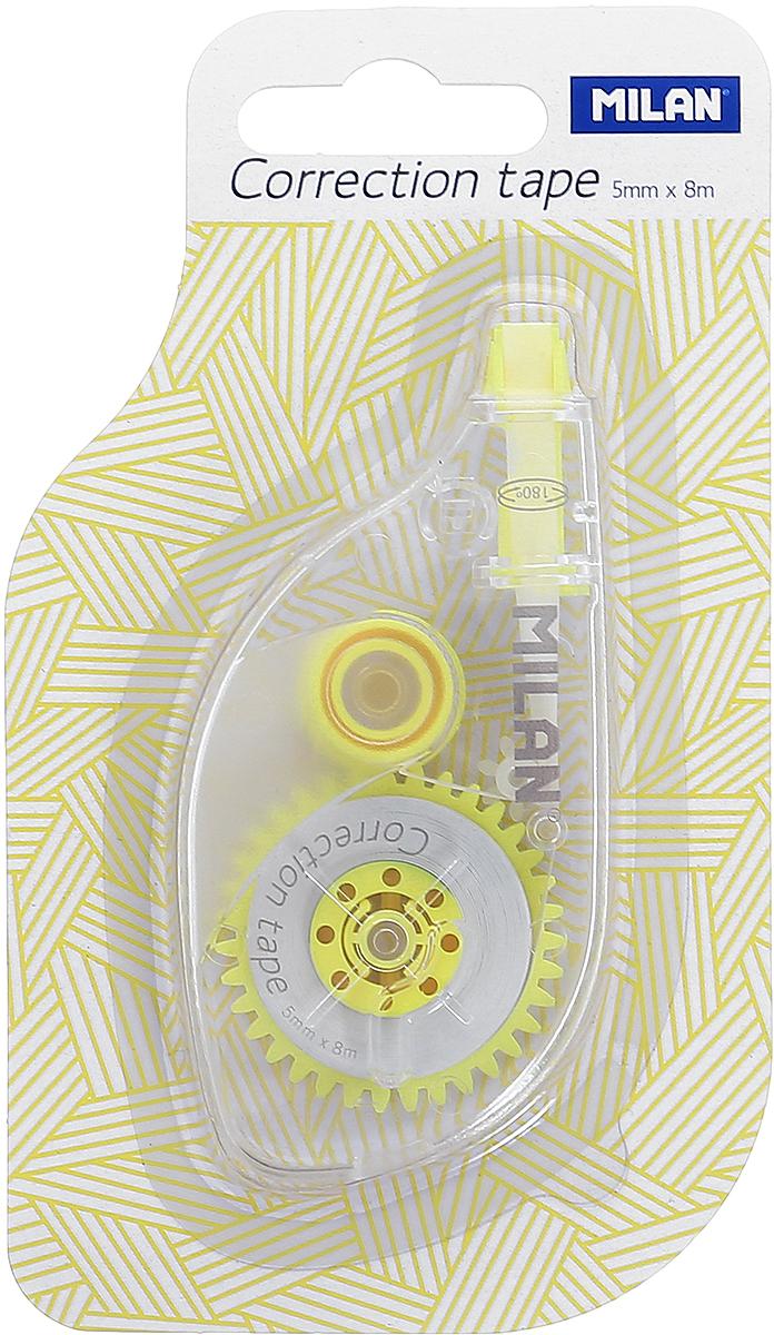 Milan Корректирующая лента цвет желтый1300701_желтыйКорректирующая лента Milan корректирует быстро, чисто и точно. Коррекция этой ленты подходит для всех типов бумаг. Размер 5 мм в ширину, 8 м в длину.
