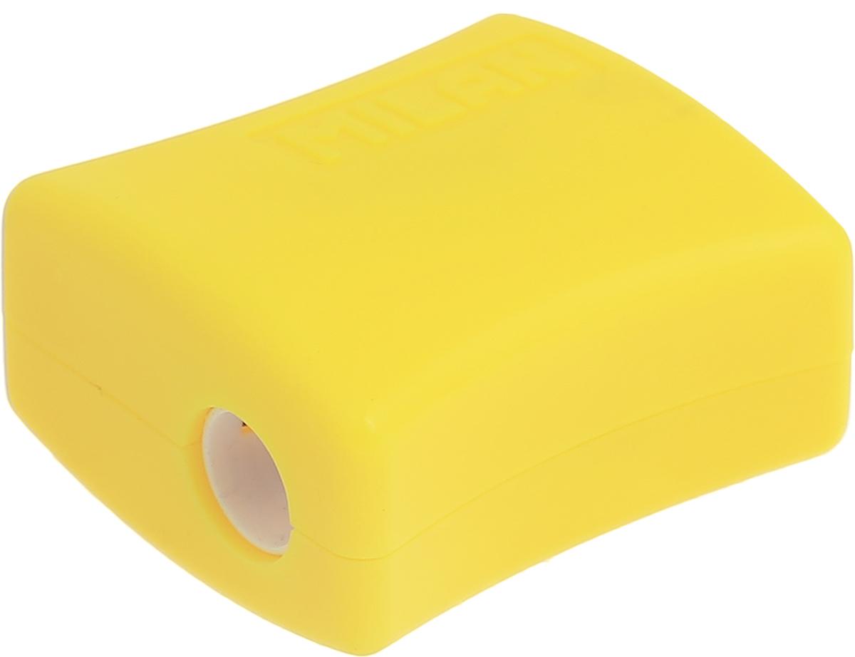 Milan Точилка Double с контейнером цвет желтый20152918_желтыйУдобная точилка Milan Double с контейнером оснащена безопасной системой заточки. Эта система предотвращает отделение лезвия от точилки. Идеально подходит для использования в школах. Стальное лезвие острое и устойчиво к повреждению. Идеально подходит для заточки графитовых и цветных карандашей