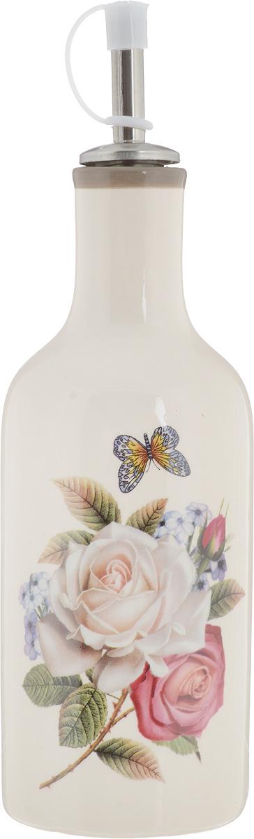 Бутылка для масла и уксуса Loraine Розы, 290 мл. 2170621706Бутылка для масла и уксуса Loraine Розы изготовлена из прочной доломитовой керамики высокого качества. Гладкая и ровная глазурованная поверхность обеспечивает легкую очистку. Изделие оформлено красочным изображением роз. Бутылка предназначена для хранения масла и уксуса. С помощью специального дозатора вы сможете легко добавить нужное количество жидкости. Изделие можно мыть в посудомоечной машине, подходит для использования в микроволновой печи (без дозатора). Диаметр основания: 6,5 см. Высота бутылки (с дозатором): 21,5 см.