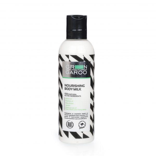 GreenGaroo, Молочко для тела питательное 200млG103Питательный, лосьон для тела с нежной текстурой, идеальное средство для интенсивного увлажнения. Смесь натуральных питательных масел успокаивает, увлажняет кожу. Тонизирующее сочетание эфирных масел помогает поднять настроение.