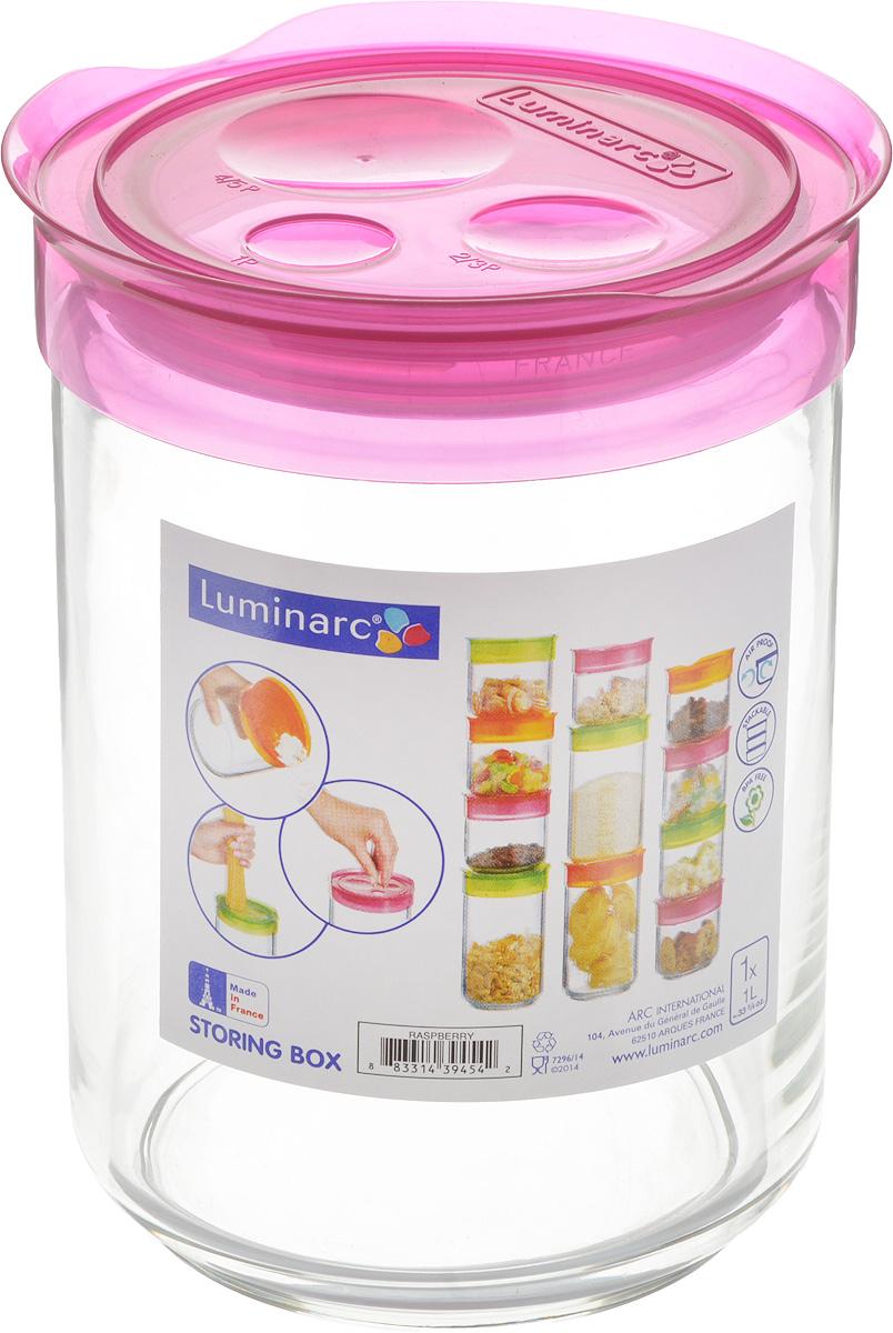 Банка для сыпучих продуктов Luminarc Storing Box, с крышкой, цвет: малиновый, 1 лJ2258Банка Luminarc Storing Box, выполненная из высококачественного стекла, станет незаменимым помощником на кухне. В ней будет удобно хранить разнообразные сыпучие продукты, такие как кофе, сахар, соль или специи. Прозрачная банка позволит следить, что и в каком количестве находится внутри. Банка надежно закрывается пластиковой крышкой, которая снабжена резиновым уплотнителем для лучшей фиксации. Такая банка не только сэкономит место на вашей кухне, но и украсит интерьер. Объем: 1 л. Диаметр банки (по верхнему краю): 9 см. Высота банки (без учета крышки): 14,5 см.