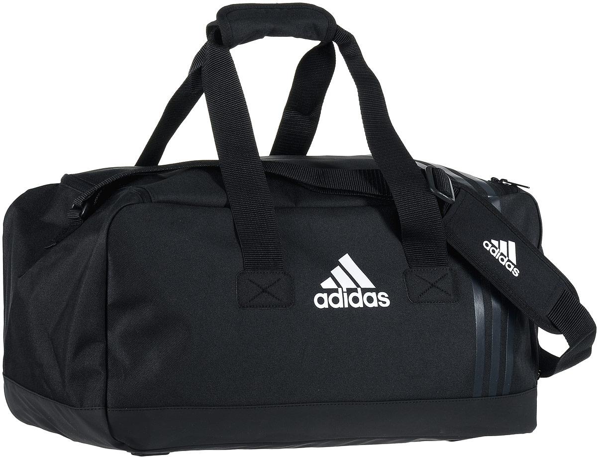 "Сумка спортивная Adidas ""Tiro TB"", цвет: черный, 48 х 24 х 24 см B46128"