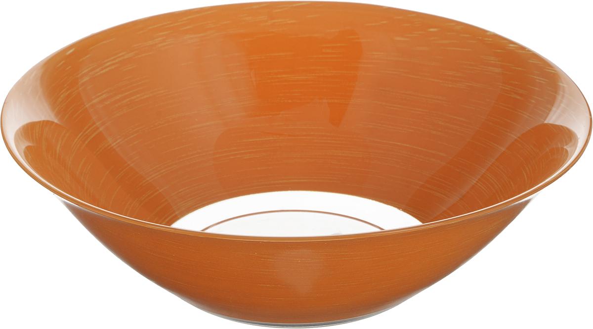 Салатник Luminarc Stonemania Orange, диаметр 27 смH3560Салатник Luminarc Stonemania Orange выполнен из ударопрочного стекла. Изделие сочетает в себе изысканный дизайн с максимальной функциональностью. Он прекрасно впишется в интерьер вашей кухни и станет достойным дополнением к кухонному инвентарю. Салатник не только украсит ваш кухонный стол и подчеркнет прекрасный вкус хозяйки, но и станет отличным подарком. Диаметр салатника (по верхнему краю): 27 см. Высота салатника: 8,5 см.