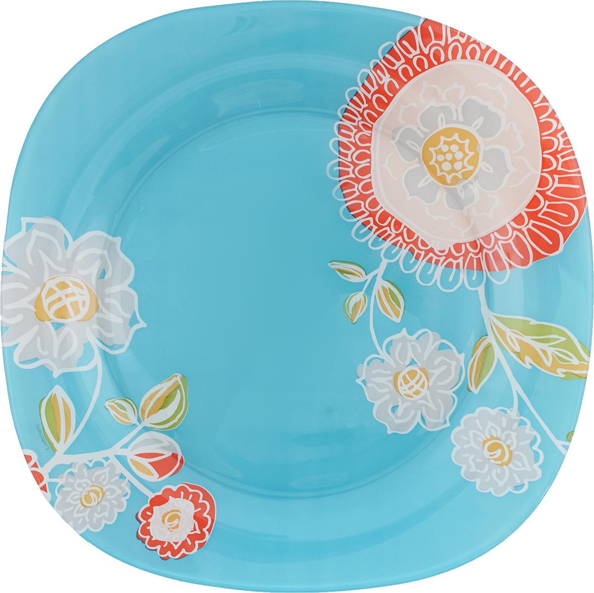 Тарелка обеденная Luminarc Silene Glass, 25 х 25 смJ7555Обеденная тарелка Luminarc Silene Glass изготовлена из высококачественного стекла. Изделие сочетает в себе изысканный дизайн с максимальной функциональностью. Тарелка прекрасно впишется в интерьер вашей кухни и станет достойным дополнением к кухонному инвентарю. Такое изделие не только украсит ваш кухонный стол и подчеркнет прекрасный вкус хозяйки, но и станет отличным подарком. Размер тарелки: 25 х 25 см. Высота тарелки: 1,5 см.
