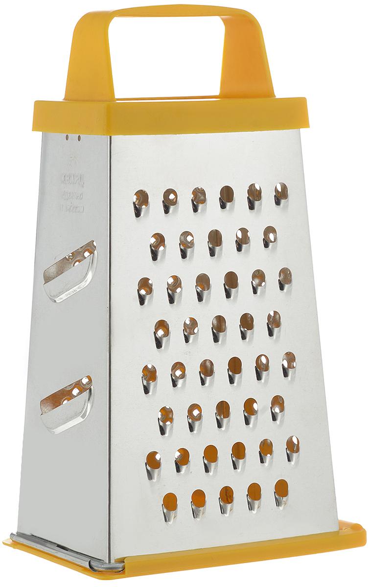 Терка Кварц, четырехгранная, со съемным дном, высота 21 смК01.001.03Четырехгранная терка Кварц, выполненная из высококачественной жести и пластика, станет незаменимым атрибутом приготовления пищи. На одном изделии представлены четыре вида терок - крупная, средняя, мелкая и нарезка ломтиками. Терка оснащена съемным дном и удобной ручкой. Терка Кварц станет достойным дополнением к вашему кухонному инвентарю. Высота терки: 21 см. Размер основания: 12 х 9 см.