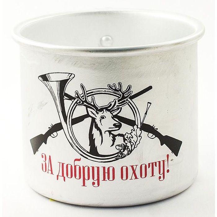 Кружка Эврика За добрую охоту. Олень, 500 мл97937Оригинальные алюминиевые кружки с нанесением