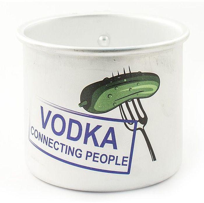 Кружка Эврика Vodka, 500 мл97950Оригинальные алюминиевые кружки с нанесением