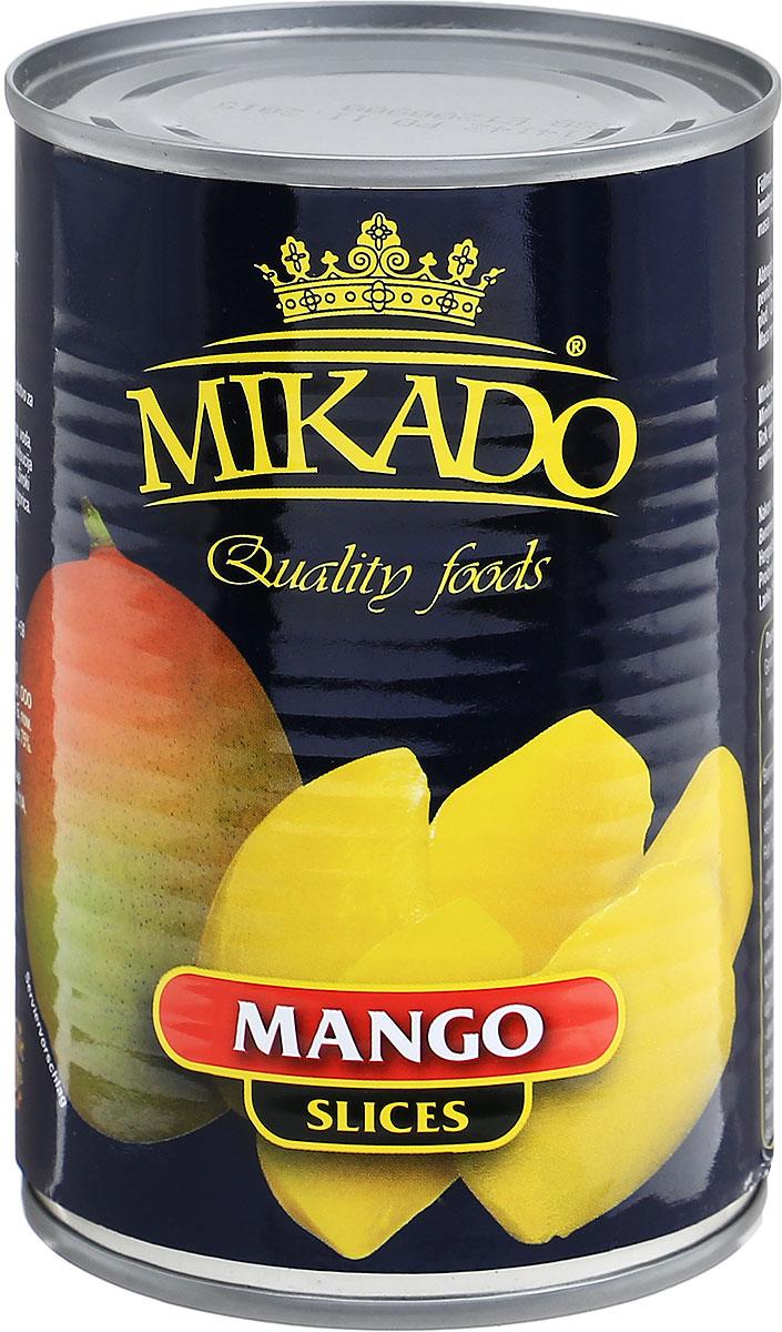 Mikado манго дольками в сиропе, 425 мл4007415006968Ломтики манго в сиропе от Mikado безусловно станут отличным лакомством для вас и ваших детей! Уважаемые клиенты! Обращаем ваше внимание, что полный перечень состава продукта представлен на дополнительном изображении. Упаковка может иметь несколько видов дизайна. Поставка осуществляется в зависимости от наличия на складе.