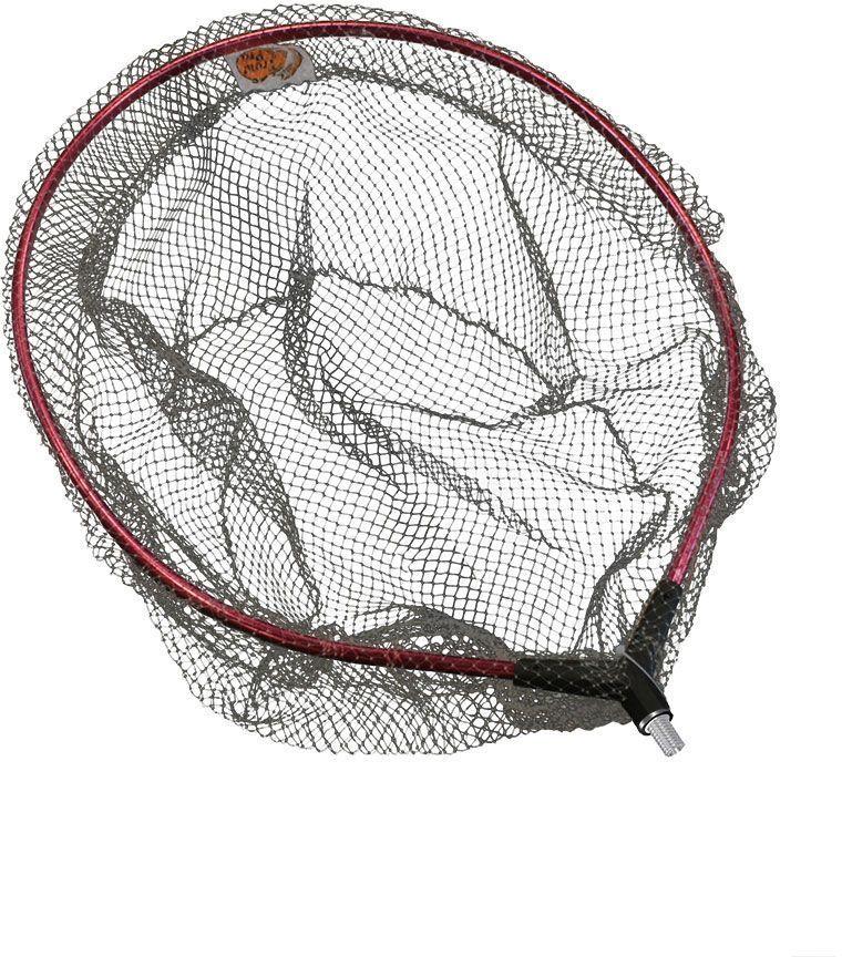 Подсачек Trout Pro, цвет: серый, розовый. IMS-453552728Подсачек Trout Pro, серебристая трапеция ячейка - 6 мм