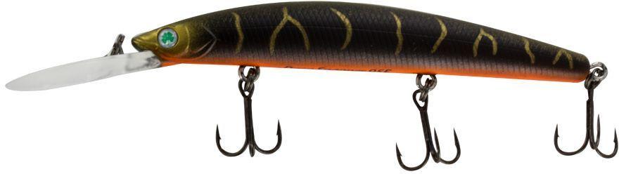 Воблер Yoshi Onyx Deep Snapper-95 F-DR, цвет: 336 (коричневый, золотой)75201Deep Snapper 95F от Yoshi Onyx способен буквально за два-три рывка достигнуть глубины два с половиной метра, что позволит эффективно обловить глубокие, но короткие прибрежные канавки. Отзывчив на анимацию и способен соблазнить практически любую хищную рыбу. Deep Snapper 95F это плавающий воблер, размером 95 мм и весом 9,1 гр. с максимальным заглублением до 2-4 м.