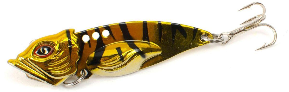 Блесна Yoshi Onyx Yalu Vib Up, 10 г, цвет: 7 (золотой, черный)95780Блесна Yoshi Onyx Yalu Vib up – приманка, с характерной, смещённой вперёд развесовкой, отлично выдерживает рваный темп рывковых проводок, имитируя беззаботно копошащуюся у дна рыбку. Тщательно рассчитанный баланс приманки позволяет эффективно облавливать участки водоёмы с ярко выраженным рельефом.