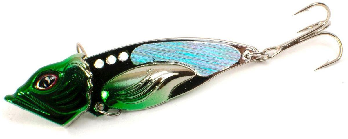Блесна Yoshi Onyx Yalu Vib Up, 21 г, цвет: 4 (зеленый)95788Блесна Yoshi Onyx Yalu Vib up – приманка, с характерной, смещённой вперёд развесовкой, отлично выдерживает рваный темп рывковых проводок, имитируя беззаботно копошащуюся у дна рыбку. Тщательно рассчитанный баланс приманки позволяет эффективно облавливать участки водоёмы с ярко выраженным рельефом.
