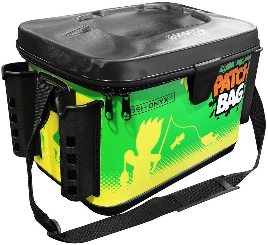 """Сумка для снастей Yoshi Onyx """"Patch Bag"""", с держателями для спиннингов, цвет: желтый, зеленый 96805"""