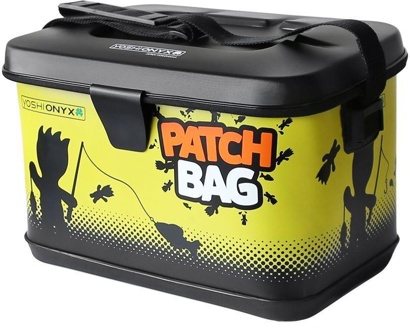 Сумка для снастей Yoshi Onyx Patch Bag, цвет: черный, желтый96806Яркая, водонепроницаемая сумка для снастей. Изготовлена из качественного материала EVA, который легко поддается чистке и мойке, с очень хорошим качеством прокраски и оригинальным узнаваемым рисунком. Сумка закрывается на молнию, но если вам нужно иметь возможность быстро сменить приманку, то можно воспользоваться фиксацией крышки липучкой с помощью одного касания. Для удобной переноски сумка оснащена наплечным ремнем, который можно отрегулировать по длине.. В сумку можно поместить большие фирменные коробки Yoshi Onyx для снастей. Сумка Yoshi Onyx Patch Bag - невероятно яркий и красивый элемент рыболовного современного снаряжения, созданный приносить радость от рыбалки.